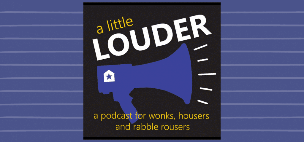 A Little Louder Podcast logo